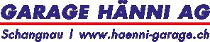 Garage Hänni AG – 6197 Schangnau